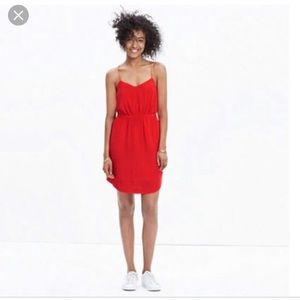 Red Madewell Silk Cami Dress. Worn Once!